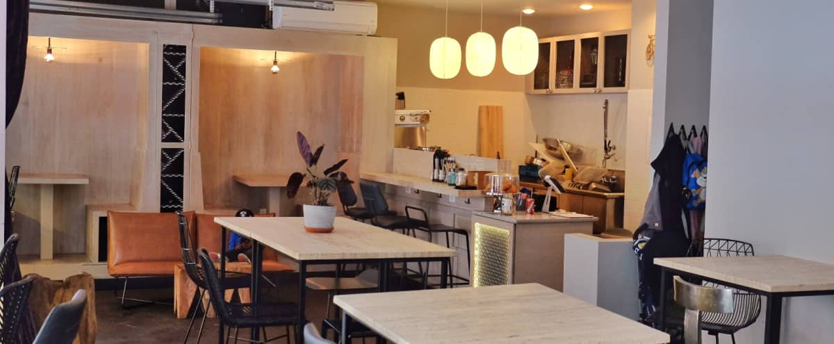 Loft style, open studio feel. Adapts easily for your unique requests. Corky bar with funky vibes. in Brooklyn Hero Image in Prospect Lefferts Gardens, Brooklyn, NY