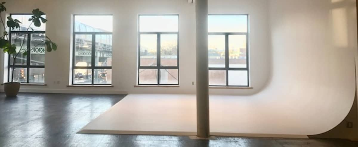 6,000 sqft Multi Use Loft - Amazing Lighting and Cyclorama in Brooklyn Hero Image in Bushwick, Brooklyn, NY