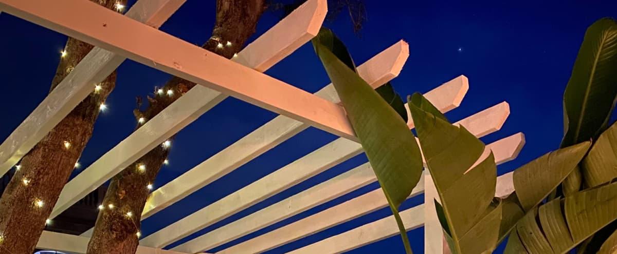 Retro Malibu Beach House and Outdoor Patio Space in Malibu Hero Image in Eastern Malibu, Malibu, CA