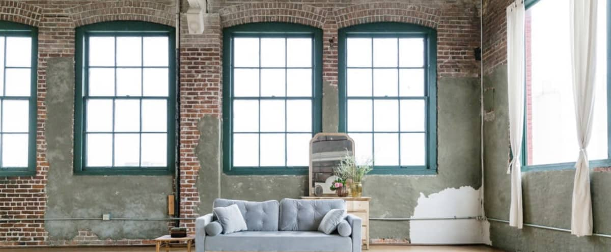 Natural Light Studio with Exposed Brick in NE Portland Perfect for Photography in Portland Hero Image in Piedmont, Portland, OR
