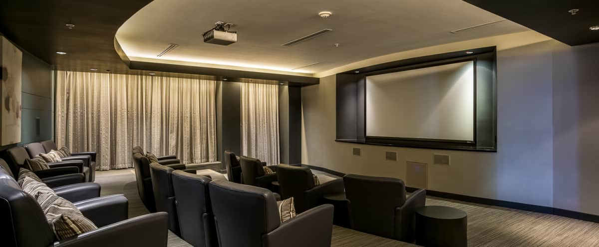 Modern Screening Room in Little Italy in San Diego Hero Image in Little Italy, San Diego, CA