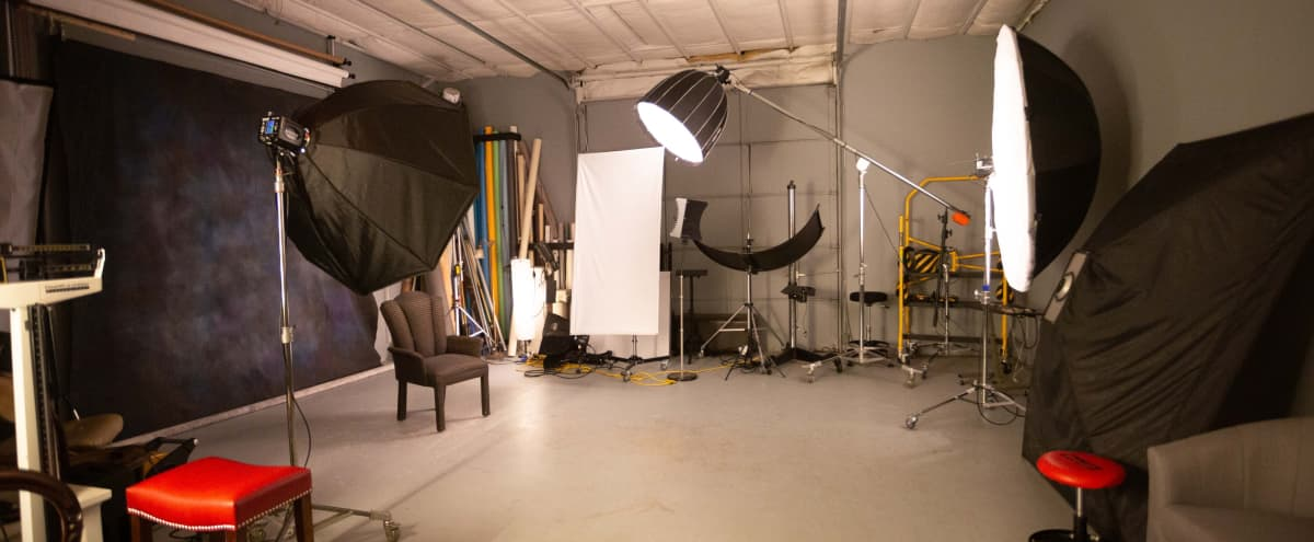 Dedicated NW Austin photo studio with lights and props in Austin Hero Image in Wooten, Austin, TX