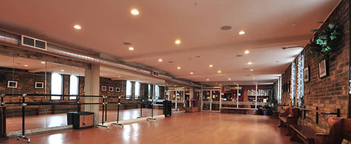Natural Light Dance Studio w/ Large Mirrors & Exposed Brick in Toronto Hero Image in Riverdale, Toronto, ON