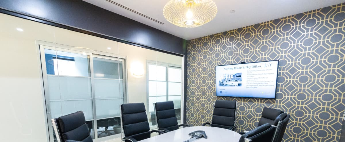 Beautiful Modern Brand New 8 person Meeting Space - Plaza District - C in New York Hero Image in Midtown Manhattan, New York, NY