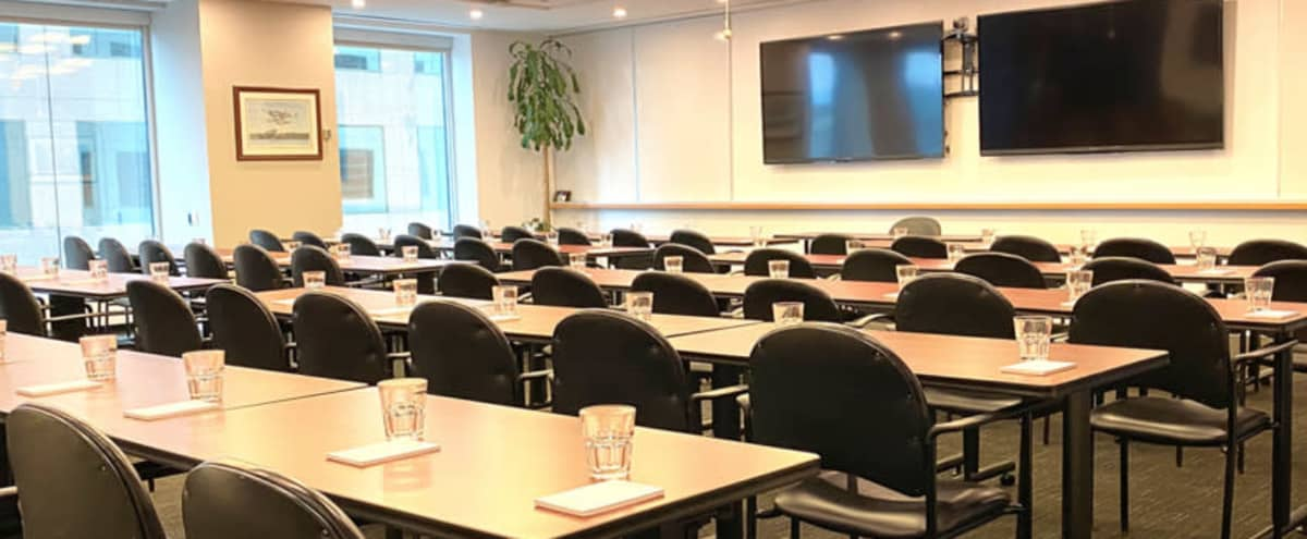 100-Person Meeting Room | Rainy Lake in Toronto Hero Image in South Core, Toronto, ON