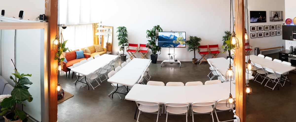 Luxurious 2300 sq ft studio w/ seating for 50, projectors, tables and more in Los Angeles Hero Image in undefined, Los Angeles, CA