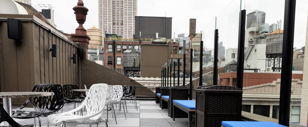 Gorgeous Brand New Roof Terrace-Amazing City Views in New York Hero Image in Midtown Manhattan, New York, NY