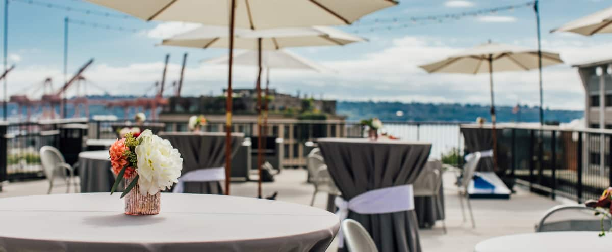 Rooftop Terrace with 360 Degree View of Downtown and Waterfront in Seattle Hero Image in Downtown, Seattle, WA