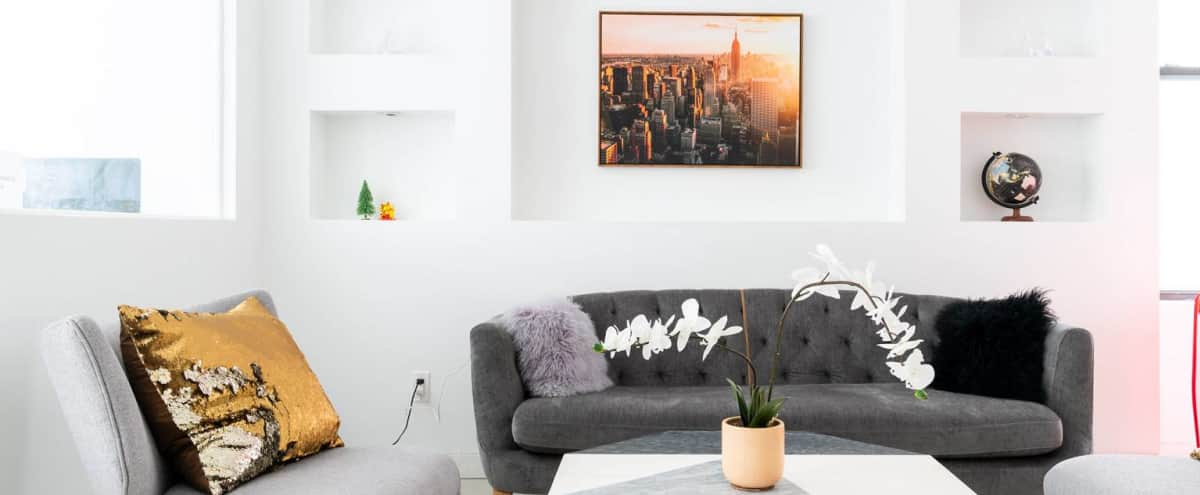 Bright and clean event space/showroom with reception area in New York Hero Image in Midtown, New York, NY