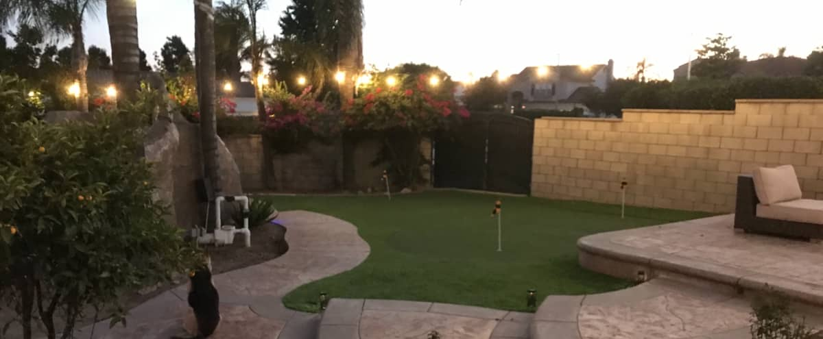Spacious Rancho Cucamonga Backyard Event Space with Pool and Putting Green in Rancho Cucamonga Hero Image in undefined, Rancho Cucamonga, CA