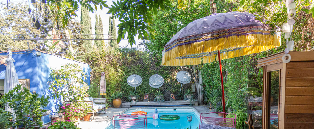1920's Spanish Home w/ Pool in a Tropical Paradise in Los Angeles Hero Image in Mid-Wilshire, Los Angeles, CA