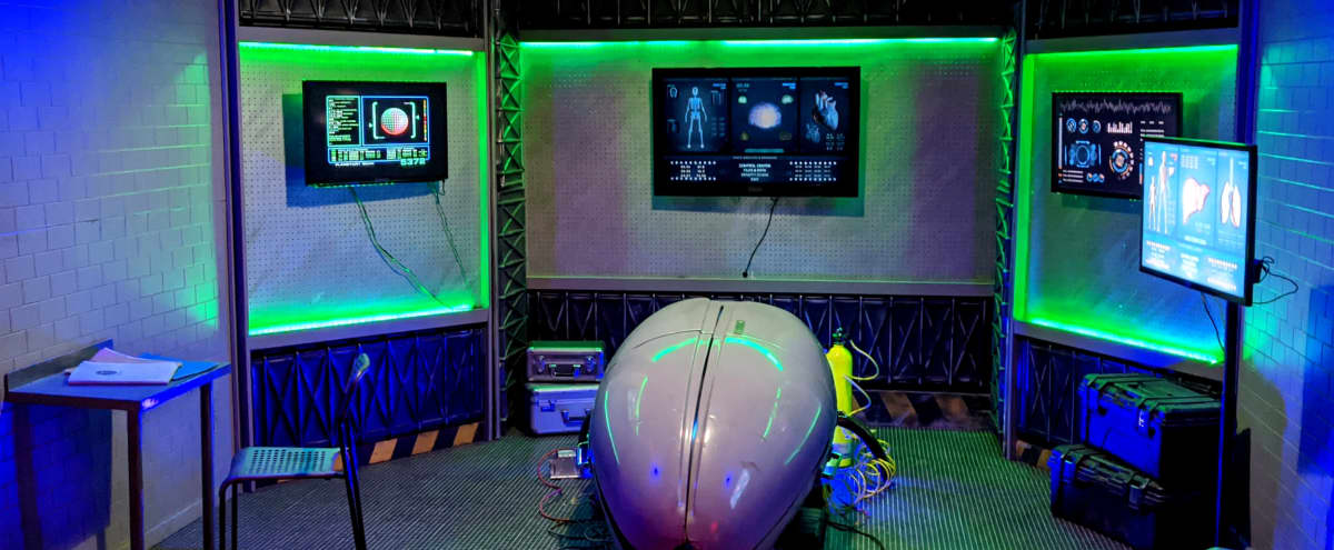 SPACE POD CRYO LAB SLEEP STUDY Sci FI Medical Bunker Area 51 Underground Nasa Alien Study in Burbank Hero Image in undefined, Burbank, CA