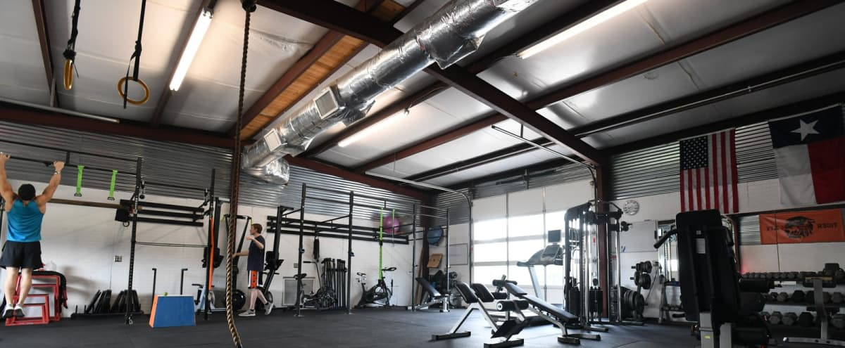 Private Gym with Crossfit style, weightlifting, MMA, and outdoor turf. in Austin Hero Image in West Oak Hill, Austin, TX