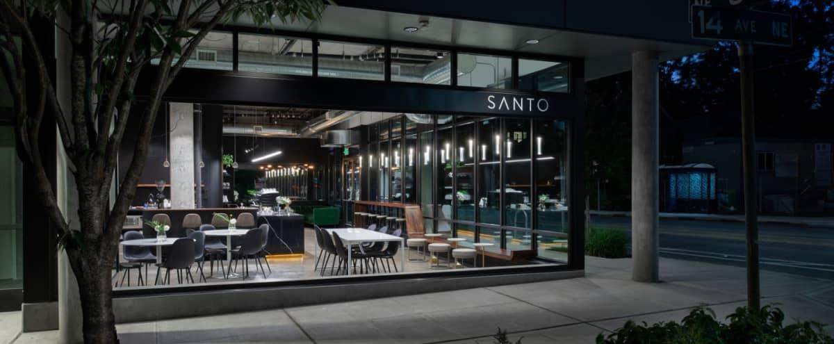 Modern, Industrial Coffee Shop in Roosevelt in Seattle Hero Image in Roosevelt, Seattle, WA