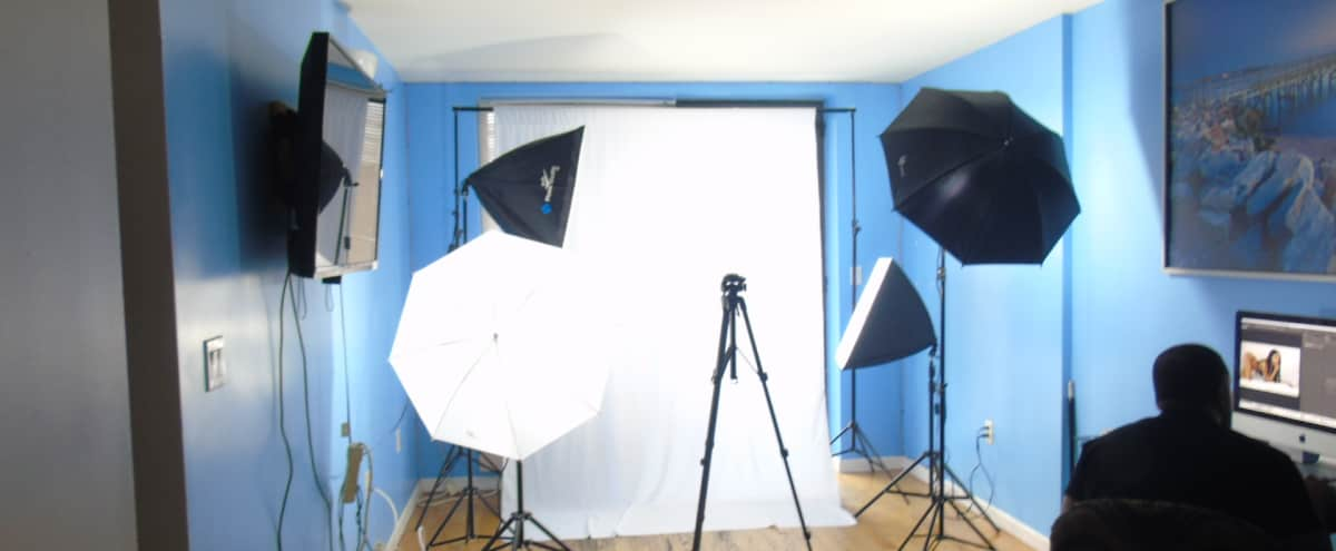 Photoshoot/ Video Studio w/ Great 7th Floor view/Balcony in JAMAICA Hero Image in Queens, JAMAICA, NY