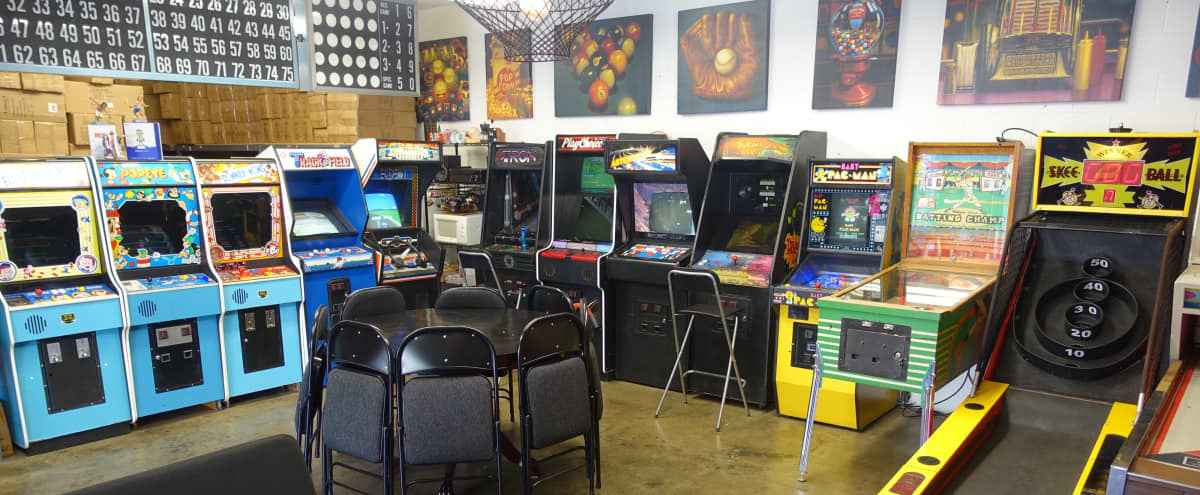 Hip Retro Arcade Event Space in Sierra Madre Hero Image in undefined, Sierra Madre, CA