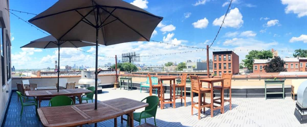Intimate Lounge & Roof Deck w/ Skyline View in Brooklyn Hero Image in Greenwood, Brooklyn, NY