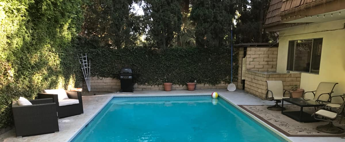 Big Upscale 70's Retro Home in the Valley with Music Studio, Bar and Amazing Back Patio Ideal for Party Scenes in Sherman Oaks Hero Image in Sherman Oaks, Sherman Oaks, CA