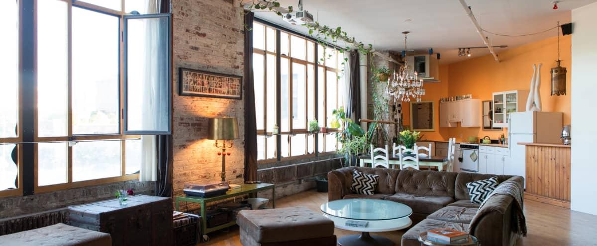 Big Bright Bushwick Photo Studio/Gallery Loft in Brooklyn Hero Image in East Williamsburg, Brooklyn, NY