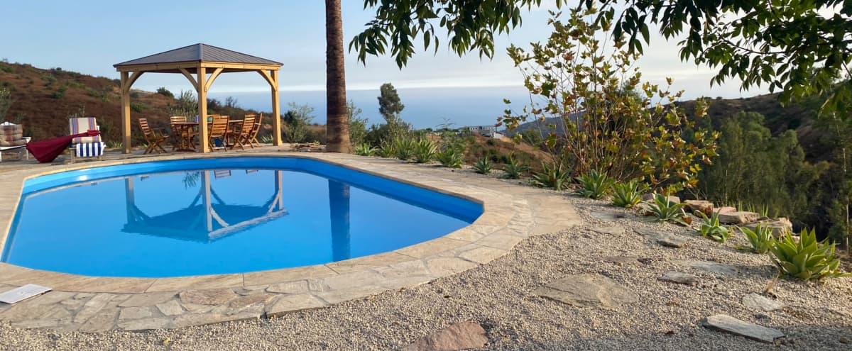 Secluded Hilltop Hacienda in Latigo Canyon, Malibu in Malibu Hero Image in undefined, Malibu, CA