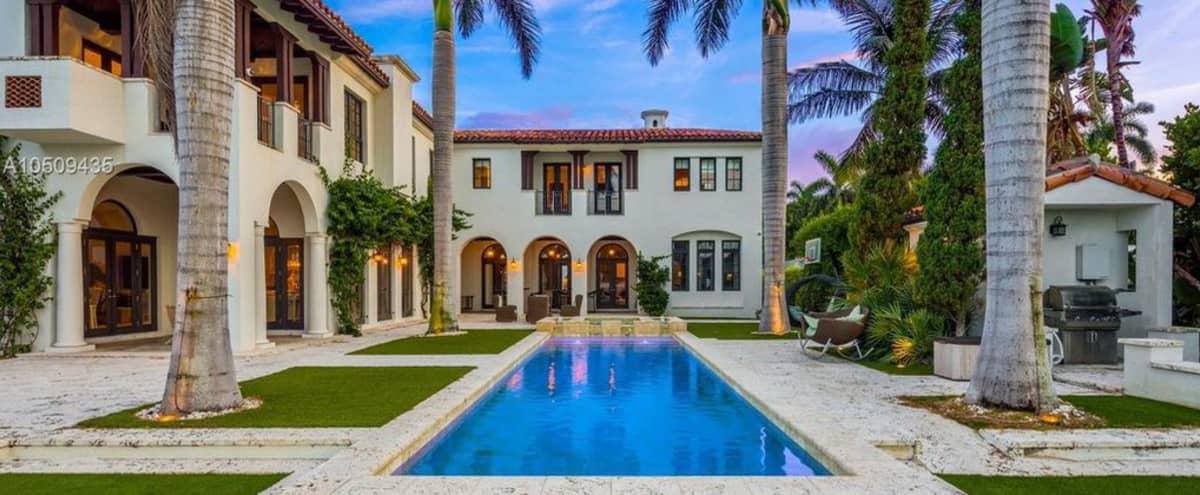 Corporate Retreat Location -  Luxurious Mediterranean Estate in Miami Beach Hero Image in Star, Miami Beach, FL