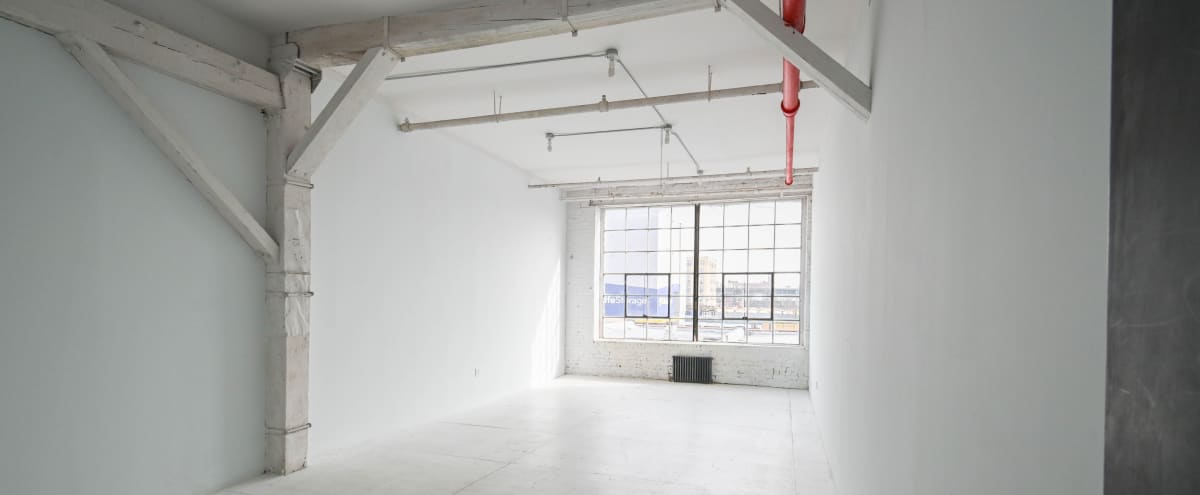 Industrial all white  Bright Loft Natural Light great for Interviews in Brooklyn Hero Image in Brownsville, Brooklyn, NY