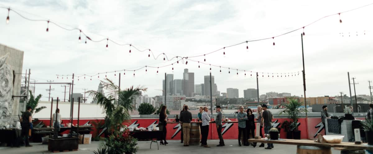 Rooftop with Downtown Skyline Views in Los Angeles Hero Image in Downtown, Los Angeles, CA