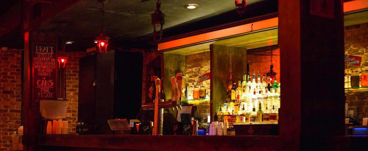 Downtown historic brick bar and venue with skyline view in Atlanta Hero Image in Sweet Auburn, Atlanta, GA