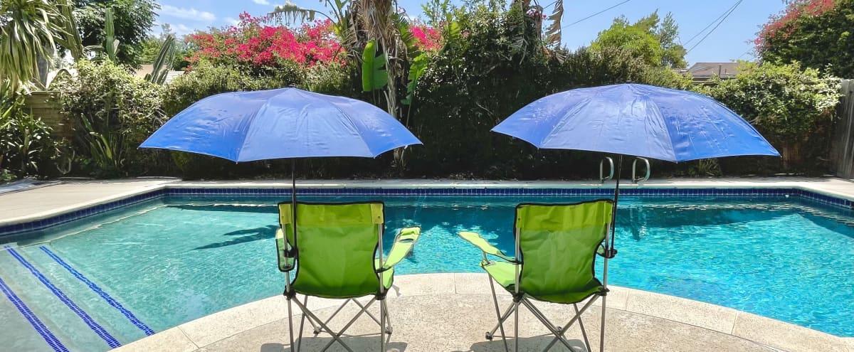 Spacious backyard with Splendid Pool and Patio in Winnetka Hero Image in Winnetka, Winnetka, CA