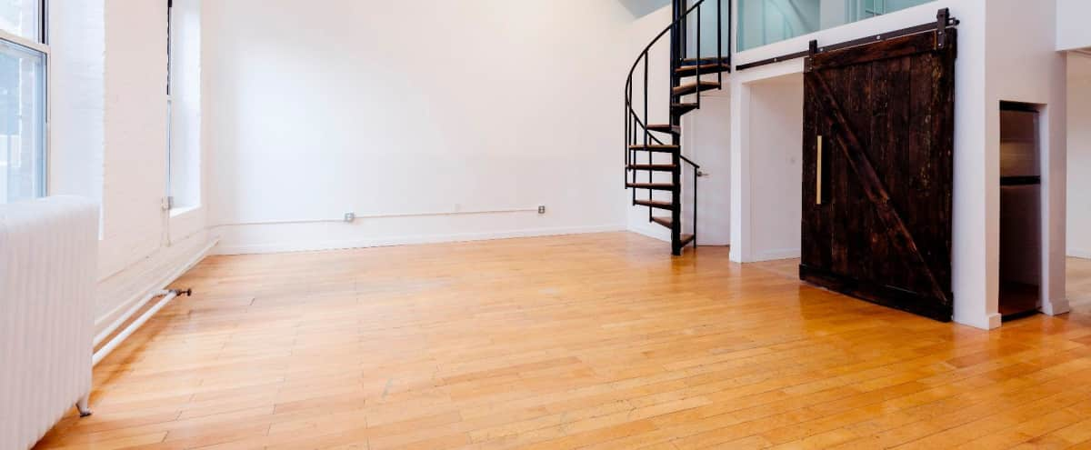 Spacious Industrial Loft Studio in Brooklyn Hero Image in Clinton Hill, Brooklyn, NY