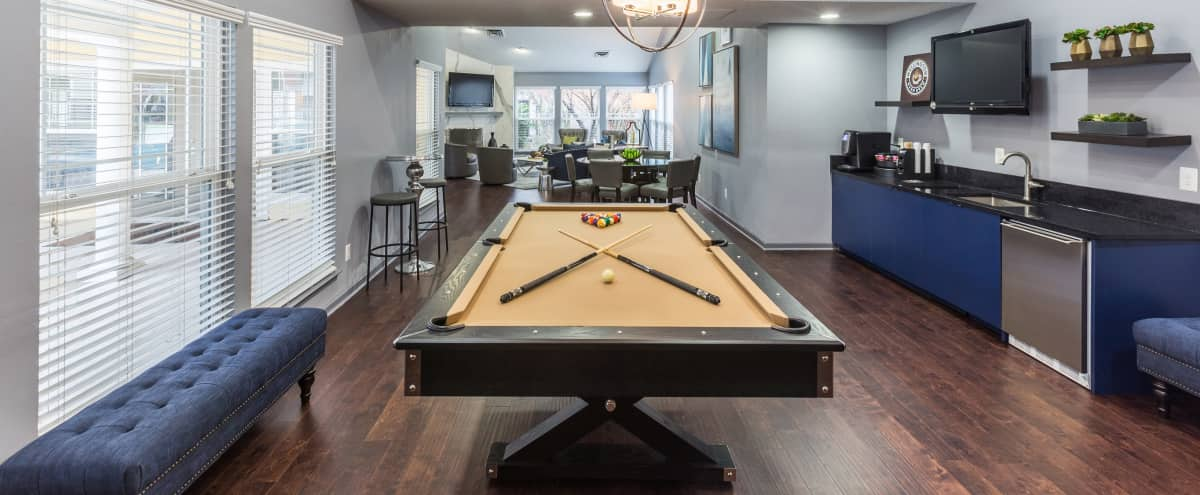 Modern Club Room with Pool Table in manassas Hero Image in undefined, manassas, VA