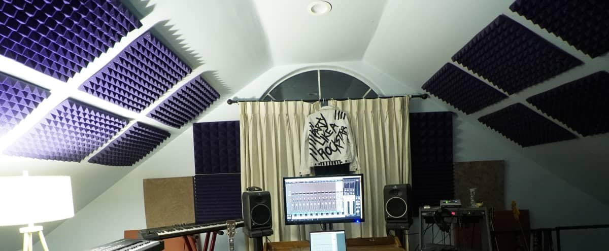 Music Studio With Views Of Silverlake With Vocal Booth in Los Angeles Hero Image in Silver Lake, Los Angeles, CA