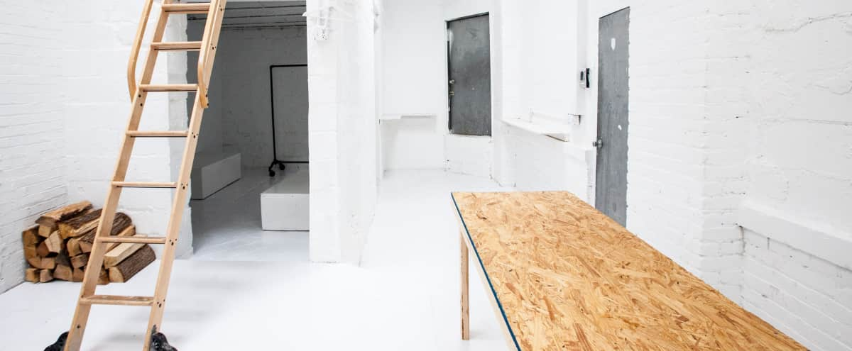 Ghost White Gallery Space with Tons of Natural Light in Brooklyn Hero Image in Crown Heights, Brooklyn, NY