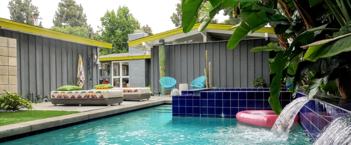 Desert-Tropical Mid-century Rancho with Pool in Long Beach Hero Image in Rancho Estates, Long Beach, CA