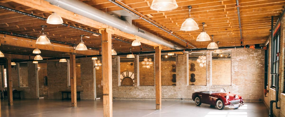 Unique Industrial Loft Venue in Chicago Hero Image in Lake View, Chicago, IL