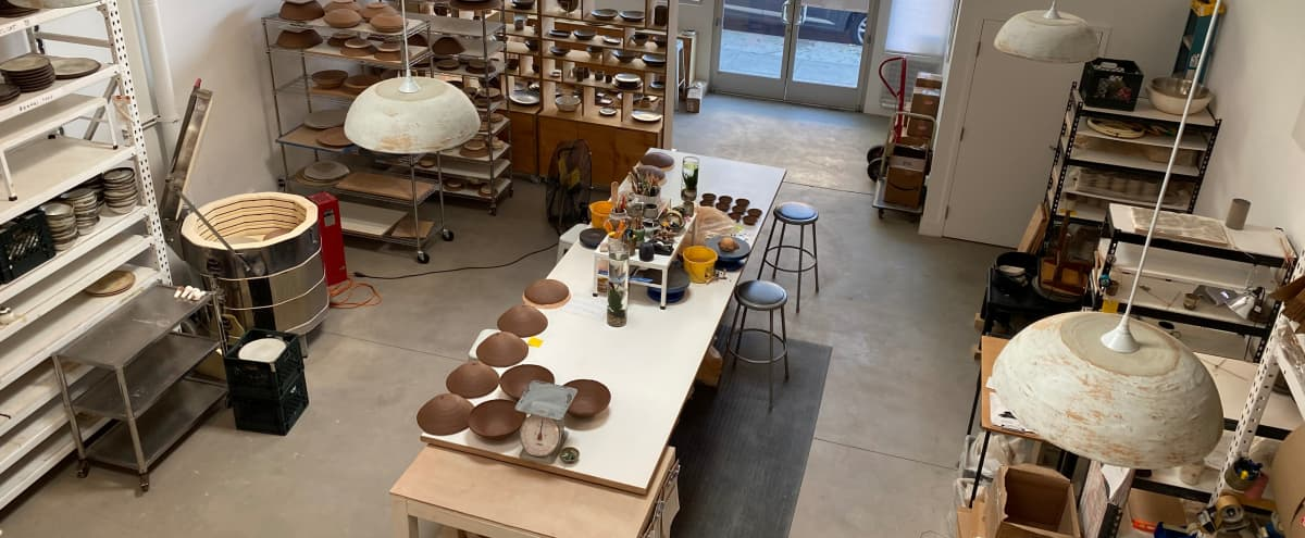 Beautiful Hayes Valley Production Pottery Studio & Showroom - open-air back patio, well lit interior / skylights , exposed beam ceilings in San Francisco Hero Image in Hayes Valley, San Francisco, CA