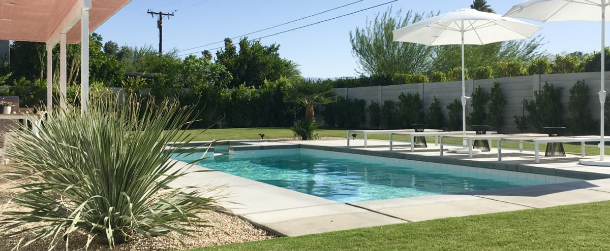Sleek modern  Palm Springs retreat with pool and hot tub in Palm springs Hero Image in Desert Park Estates, Palm springs, CA