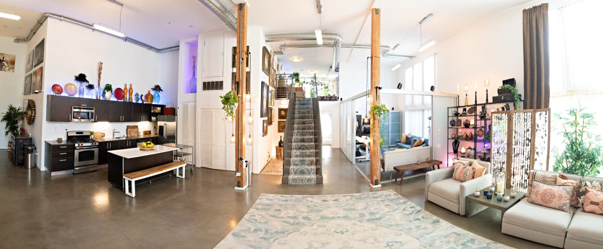 2300 sq ft luxury event loft w/private deck, seating, tables, projector and custom lighting + smarthome in Los Angeles Hero Image in undefined, Los Angeles, CA