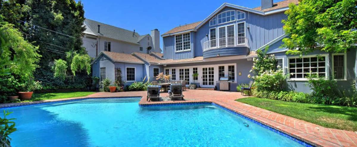 East Coast Traditional Gated Home with Pool & Lush Backyard in Studio City Hero Image in Studio City, Studio City, CA