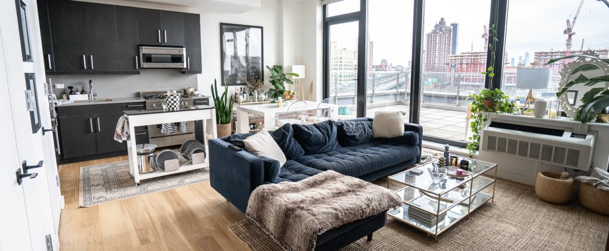 Brooklyn Penthouse w Outdoor Space, Natural Light, and City View in Brooklyn Hero Image in Bridge Plaza, Brooklyn, NY