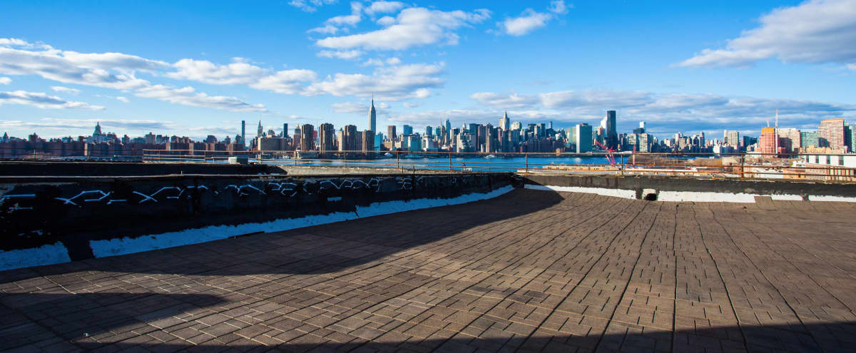 Greenpoint Rooftop with Manhattan Skyline Views in Brooklyn Hero Image in Greenpoint, Brooklyn, NY