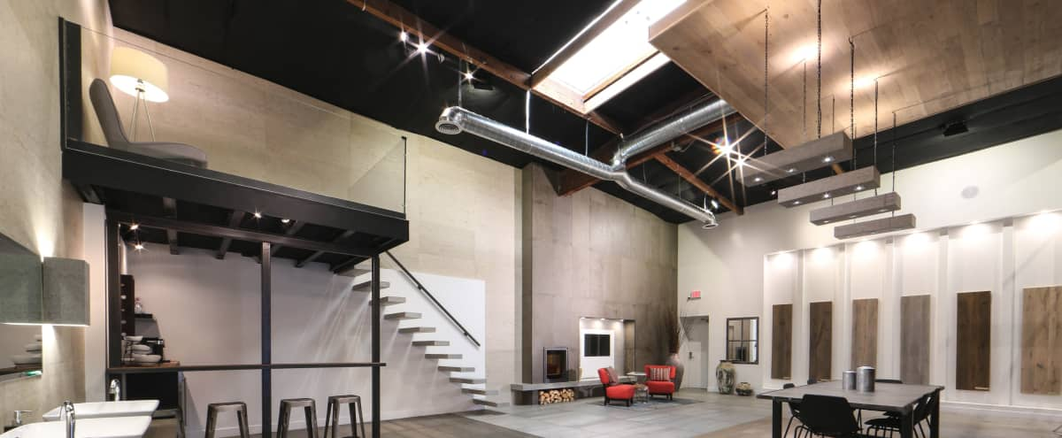 Spacious, open, designer showroom/space with industrial flair offers loads of opportunities! in North Hollywood Hero Image in North Hollywood, North Hollywood, CA