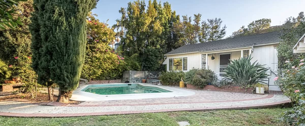 Vintage Old Hollywood Garden and Pool in Studio City Hero Image in Studio City, Studio City, CA