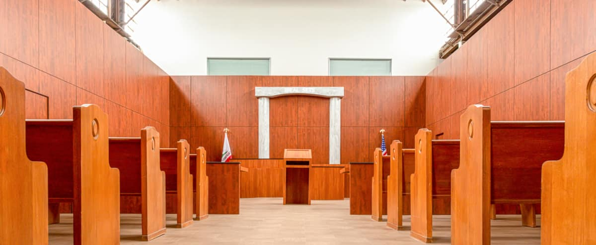 Los Angeles Courtroom TV and Film Set Modern Court Standing Set for Rent 1 in Los Angeles Hero Image in undefined, Los Angeles, CA