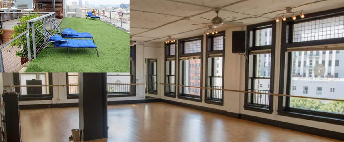 HUGE STUDIO AND ROOFTOP! DANCE, PHOTOGRAPHY/FILM/YOGA LOFT AND STUNNING ROOFTOP! ALL IN ONE FOR ANYTHING! in Los Angeles Hero Image in Central LA, Los Angeles, CA