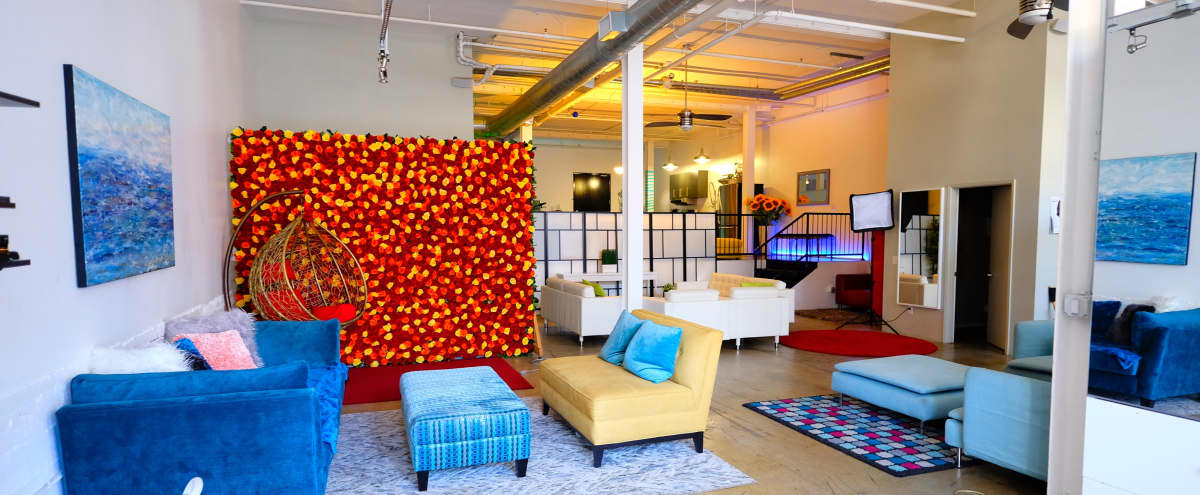 Large Art's District Loft/Studio with lots of Space and Rose Wall in Los Angeles Hero Image in Downtown, Los Angeles, CA