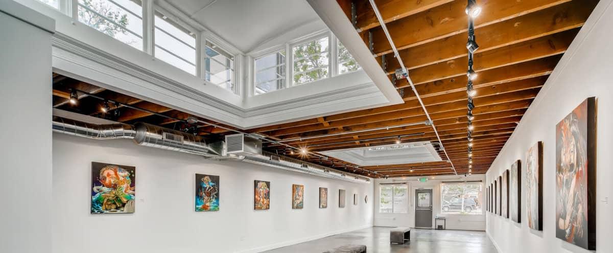 Highlands Highlight Gallery with Beautiful Open Industrial Skylit Atmosphere in Denver Hero Image in Sunnyside, Denver, CO