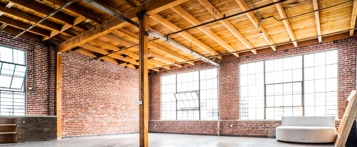 HUGE, EMPTY NY Style Industrial Loft with Natural Light and Exposed Brick in Los Angeles Hero Image in South Los Angeles, Los Angeles, CA