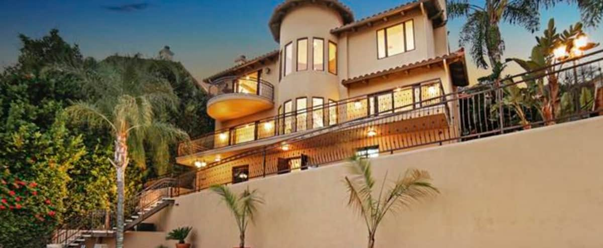 Hilltop Mediterranean Villa in the Heart of the Hollywood Hills in Los Angeles Hero Image in Central LA, Los Angeles, CA