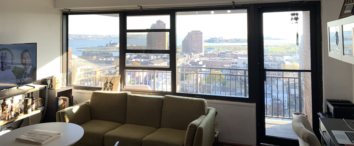 Intimate Brunch or Dinner - Downtown Jersey City Studio, with view of Statue of Liberty in Jersey City Hero Image in Paulus Hook, Jersey City, NJ